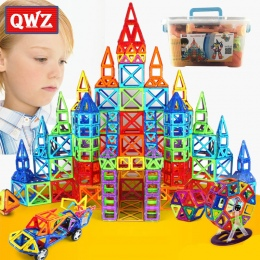 QWZ 110-252 sztuk Mini Magnetic Projektant Zestaw Modelu i Budynku Budowy Magnetyczne Zabawki Bloki Edukacyjne Zabawki Dla Dziec