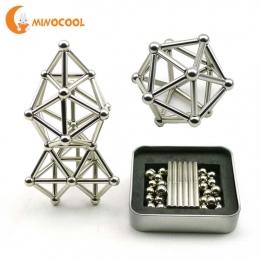 36 SZTUK Kije i 27 SZTUK Stalowe Kulki Magnetyczne Zabawki Innowacyjne Konstruktora Kije Metalowe Buckyballs Magnetyczne Zabawki