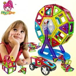Mini/Duży Rozmiar 175 sztuk Projektant Magnetyczny Budulcem Modelu i Budowlane Zabawki Cegły Oświecić Zabawki Magnetyczne dla dz