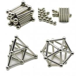 36 sztuk Magnetyczne Kije i 27 sztuk Stalowe Kulki Zabawki Innowacyjne Buckyballs Kije Metalowe Magnetyczne Konstruktora Zabawki