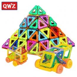 QWZ 32 SZTUK Mini Magnetic Projektant Zestaw Enlighten Cegieł Budowlanych Magnetyczny Model Klocki Zabawki Edukacyjne Dla Dzieci