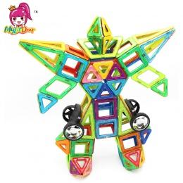 MylitDear 114 SZTUK Duży Rozmiar Projektant Magnetyczny Budulcem Modelu Budynku Zabawki Oświecić Cegły Magnetyczne Zabawki dla D
