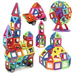 MylitDear 158 sztuk Duży Rozmiar Magnetyczne Bloki Edukacyjne Budowlane Zestaw Modele i Budowlane Zabawki ABS Magnes Projektant