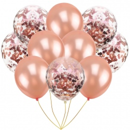 10 sztuk/paczka Nadmuchiwane Piłka Kapelusz Zabawki 10 cal Urodziny/Ślubne Różowa Róża Złota Balonu Zabawki Nadmuchiwane Kapelus
