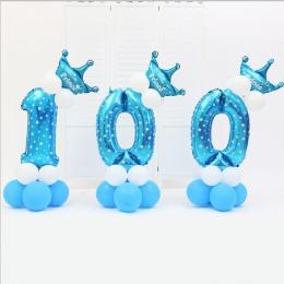 16 sztuk/paczka Różowy Niebieski 0-9 Numery Duża Helem Numer Folia Dzieci Festiwali Dekoration Urodziny kapelusz Ballon dla dzie