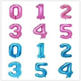 32 cal Różowy Niebieski 40 cal Czerwony Folia Balon Duży Hel Liczba 0-9 Globo Urodziny dla Dzieci strona Kapelusz Decor