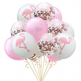 15 sztuk/paczka 12 cal Złota Róża Lateksowe Konfetti Dzieci Flamingo Liści Balon na Urodziny Dekoracje Wysokiej Jakości Party De