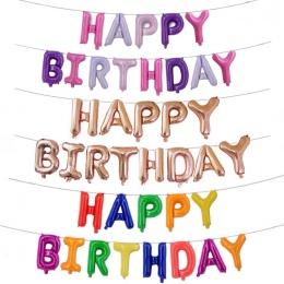 13 sztuk/paczka Szczęśliwy Urodziny Angielski Listy balon Kapelusze Różowy Niebieski Party Dekoracje Prezenty Wakacyjne Dzieci K