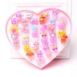 36 sztuk Moda Gorąca Sprzedaż Silikonowy Jednorożec Zabawki Pierścienie PCV Miękki Pierścień dzieci Cartoon Pierścień Party Prez