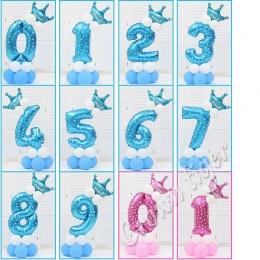 Niebieski Różowy Numer Balon party hat 520 Numer 0-9 Szczęśliwy Urodziny Dla Dzieci dzieci baby Boy Dziewczyna 100 dni