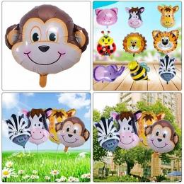 Nowy Mini Cartoon Mini Lew i Małpa & Tiger Zwierzęta Głowy Hel Foliowe nadmuchiwane Zabawki Zwierząt Powietrza Zabawki Dla Dziec