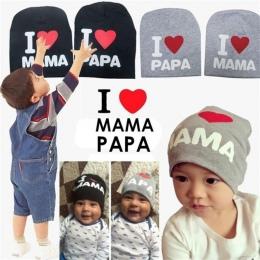 1 sztuk Dziecko Party Kapelusze Zabawki Newborn Chłopcy kocham Mama/Papa Zabawki Beanie Stock Rekwizyty Prezenty Dla Bay kapelus