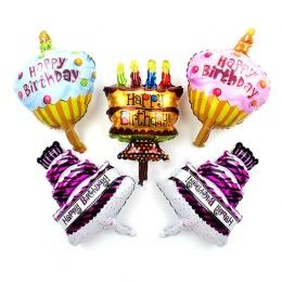 1 sztuk Mini Szczęśliwy Birthday Cake Balony Foliowe Czekolady Cukierki Powietrza Globos Szczęśliwy Urodziny Dekoracje Zabawki D