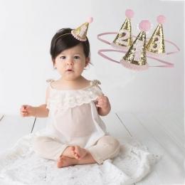 1 sztuk Dziecko Cute 1/2/3 Urodziny Kapelusze Dot Z Sierści Cap Baby Shower Urodziny Zdjęcie Rekwizyty dzieci Decor