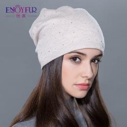 Damska czapka zimowa czapka z dzianiny czapki wełniane kobiet moda skullies casual outdoor narciarskie czapki grube ciepłe czapk