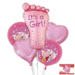 5 sztuk/zestaw Stóp Kształt Ball Zabawki Jego Chłopiec Dziewczynka Kulki Birthday Party Dekoracje Baby Shower Prezenty