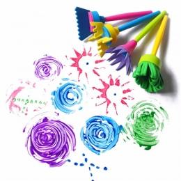 4 Sztuk/zestaw DIY Sponge Rysunek Zabawki Malowanie Graffiti Pędzle Znaczki Kreatywny Prezent Zabawki dla Dzieci Zabawki