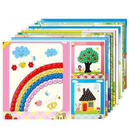 12 sztuk/partia Przycisk Puzzle Naklejki Handmade DIY Zabawki Dla Dzieci Montessori Speelgoed Brinquedo Brinquedos Juguetes Oyun