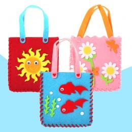 DIY torba włókniny tkaniny ręcznie torba kreskówki stereo wklej podejmowania kreatywnych materiały sztuki w przedszkolu dziecko