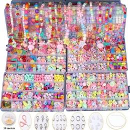 Dzieci kreatywne DIY koraliki zabawki z cały zestaw akcesoriów/Dzieci dziewczyny handmade art craft edukacyjne zabawki na prezen