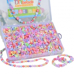 Nowy 24 siatka dzieci zroszony zabawki diy handmade dziewczyny zużycie handmade naszyjniki bransoletki koraliki zabawki edukacyj