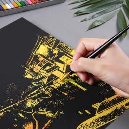 Nowe Miasto Motyw DIY Rysunek Obraz Malarstwo ścienne Zdrapka Miasta Złoty Night View Farby Sztuki Papieru Zabawki Decor Kreatyw