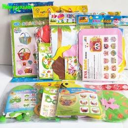 Happyxuan 8 wzory/lot Dzieci DIY Art Craft Zestawy Zestaw Naklejki Z Pianki EVA Przedszkole Kreatywny Ręcznie Edukacyjne Zabawki