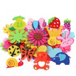 DIY kreatywny włókniny łatka dzieci hand made inteligentny naklejki materiał włókniny tkaniny płatki DIY Naklejki dla dzieci zab