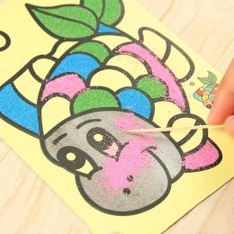10 sztuk/partia Kolorowego Piasku Malarstwo Rysunek Kształceniem Zabawki Piasku Sztuki Kolorowanki Dla Dzieci DIY Rzemiosło Kolo