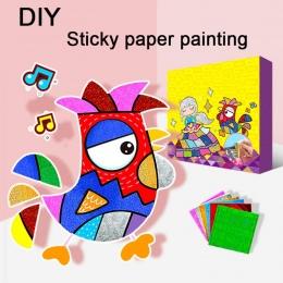 9 sztuk/zestaw DIY Shimmer Gwiaździste Niebo Kolorowe Starry Glitter Transferu Naklejka Art dzieci puzzle kreatywny edukacji zab