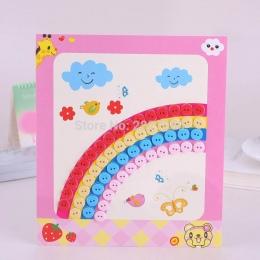 Jeden kawałek Buttom Malowanie PODŁUBAĆ Kreskówki Dla Dzieci zabawki Kreatywne Ręcznie dokonać Arts Przyciski Materiału Pasty za