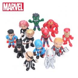 12 sztuk w Wersji Q Avengers Rysunek Ustaw Marvel Zabawki 4-5 cm Iron Man Hulk Thor Kapitan Ameryka Spiderman Ultron Modelu Lalk
