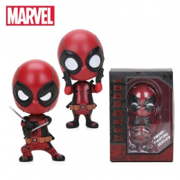 Mini 10 cm Deadpool Marvel Zabawki Rysunku Bobble Głowy 1/10 Skala pomalowana Spider-man Czarna Pantera Kolekcjonowania Model La