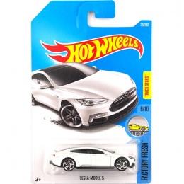 Nowy 2017 Hot Wheels 1: 64 Białe Modele S Tesla Metal Diecast Modele Pojazdów Samochody Zabawki Dla Dzieci Dla Dzieci