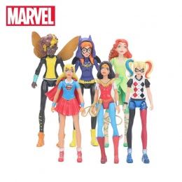 6 sztuk/zestaw 15 cm Zabawki Marvel Super Hero Dziewczyny Rysunek Ustaw Wonder kobieta Batgirl Poison Ivy Bumble Bee Harley Quin