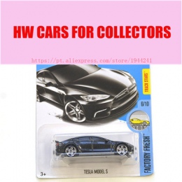 2017 New Hot Wheels 1: 64 czarny tesla model s Modeli samochodów Metal Diecast Kolekcja Dla Dzieci Zabawki Samochodu Pojazdu Jug