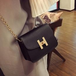 Darmowa wysyłka, 2018 nowy trend kobiet torebki, moda proste klapy, retro Koreańska wersja torba na ramię, łańcuch kobieta messe