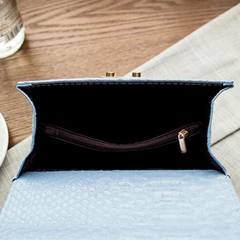 2ef67234509d ... FAJNE WALKER Aligator Krokodyl Skórzana Mini Małe Kobiety Crossbody  łańcuch kobiet torby torebki messenger torba na ...