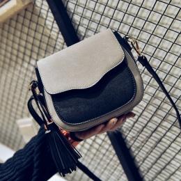 Darmowa wysyłka, 2018 nowy trend kobiet torebki, retro proste klapy, moda torba na ramię, kitki ozdoby kobieta messenger torby.