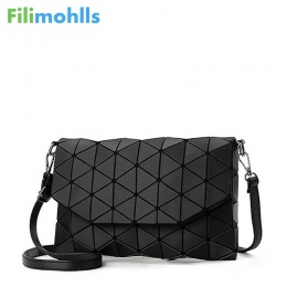 2018 nowy mały solidna plaid koperta torebka lingge geometryczne kobiety sprzęgło panie torebka crossbody messenger torby na ram