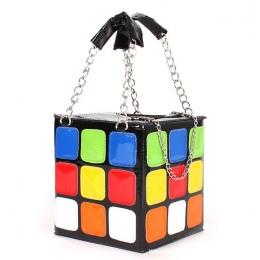 SUPER JAKOŚĆ pu leather fashion casual kolorowe miłość cube bag telefon torebka stereotypy mały kwadrat torba 2017 new arrival