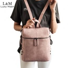 Proste Style Plecak Kobiety PU Skórzane Torby Szkolne Plecaki Dla Nastoletnich Dziewcząt Mody Rocznika Stałe Czarny Torba Na Ram