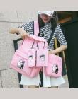 4cs/ustawić na Płótnie Kobiety Plecaki Tornister Drukowanie Cute Cat Szkoła Torba Plecak Dla Nastolatek Dziewczyny Zielony Pleca