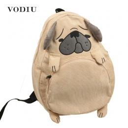 Kobiety Plecak Plecak Tornister Płótno Uroczy Pies Lisa Ucha Hafty Sztruks Kobiet Rocznika Plecak na Notebooka Dla Dziewcząt Szk