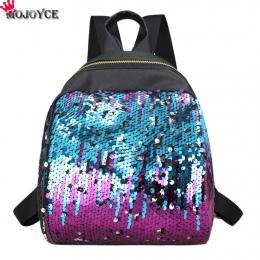 MOJOYCE Mini Plecak Kobiet Torba Szkoła Dla Nastoletnich Dziewcząt 2018 Pu Plecaki Kobiet Podróży Cekiny Mochila Bolsa feminina