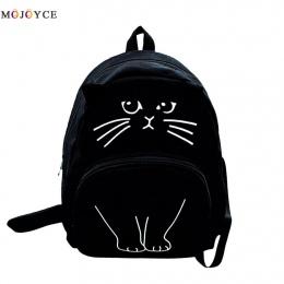 Piękny Kot Drukarnie Plecak Kobiety Płótno Plecak Szkolny Dla Nastolatków Panie Casual Śliczne Plecak Bookbags Mochila Feminina