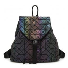Nowy Kobiety Świecenia Plecaki Kobiet Mody Dziewczyna Codzienny Plecak Geometria Pakiet Cekiny Składane Torby Torby Szkolne