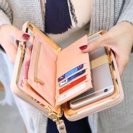 Torebka łuk portfel posiadaczy kart telefon komórkowy kieszeń PU skóra kobiet znanych marek kobiety pieniądze torby sprzęgła kob