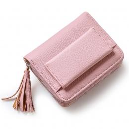 Hot Sprzedaż Moda Krótkie Kitki kobiet Portfele Lady Mini Kobiet Portfela Posiadacza Karty Kredytowej Karty Monety Kiesy Marka 3