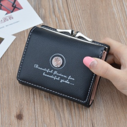 Marka Projektant Małe Portfele Damskie Skórzane Telefon Portfele Kobiet Krótki Zamek Portmonetki Pieniądze Posiadaczy Kart Kredy